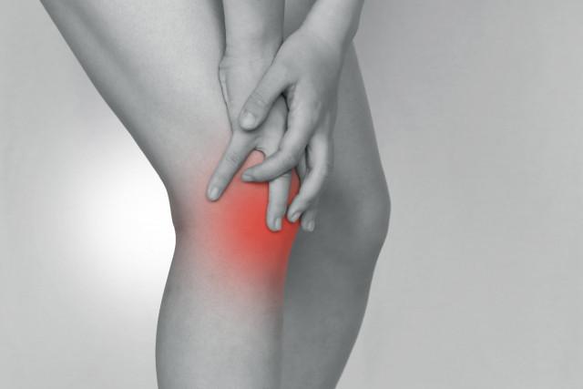 膝の炎症写真